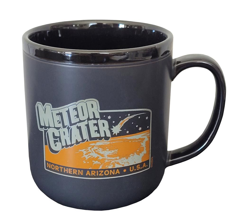 Meteor Crater Arizona Black Mug